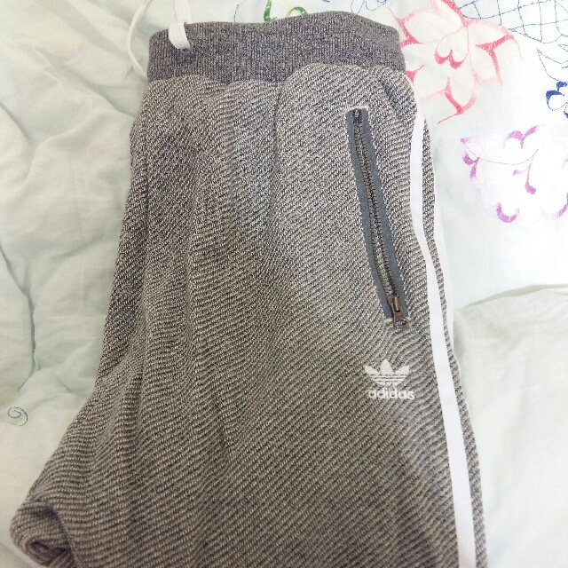 Adidas Low Crotch Grey Tracksuit Pants