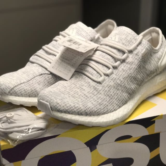 Adidas Pureboost Pure boost all white US 10