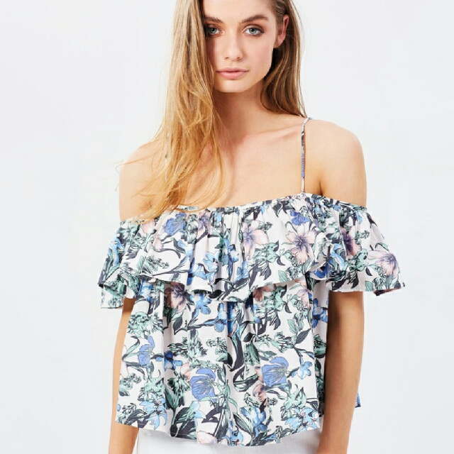 Atmos&Here Cherie Cold Shoulder Top