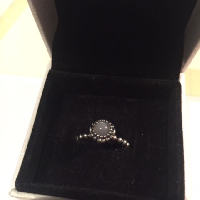 Authentic Pandora Birthstone Ring