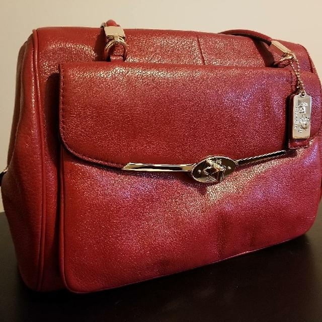 Authentic Red Coach Bag/Purse