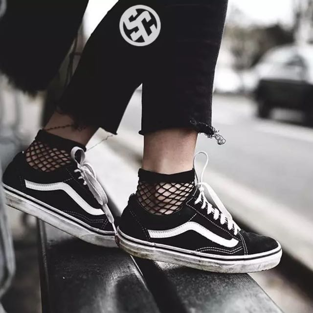 1b0cb6e3482f Authentic Vans Old Skool Platform Shoes Sneakers Ulzzang Harajuku ...