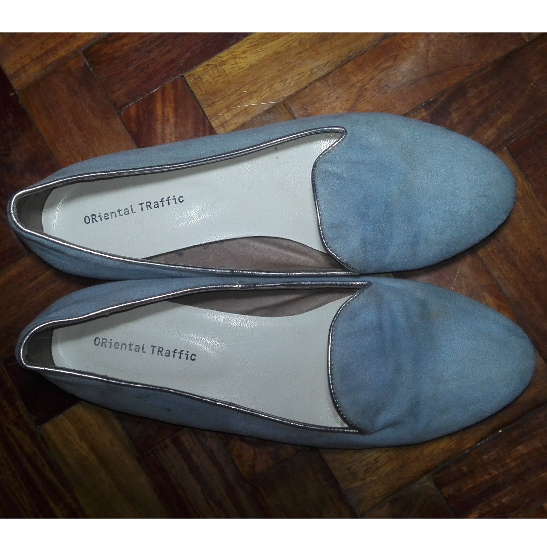 Baby Blue ORiental TRaffic Doll Shoes (Slip-Ons) from Payless