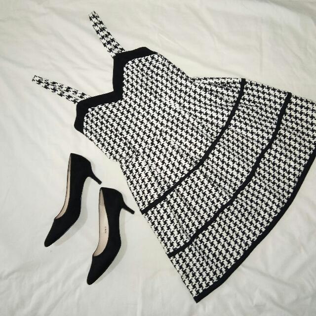 Bangkok Dress And Black Suede Heels