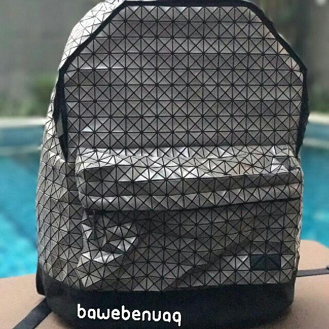 fbf642b8555a BAO BAO ISSEY MIYAKE Men s Black Geometric Daypack Backpack