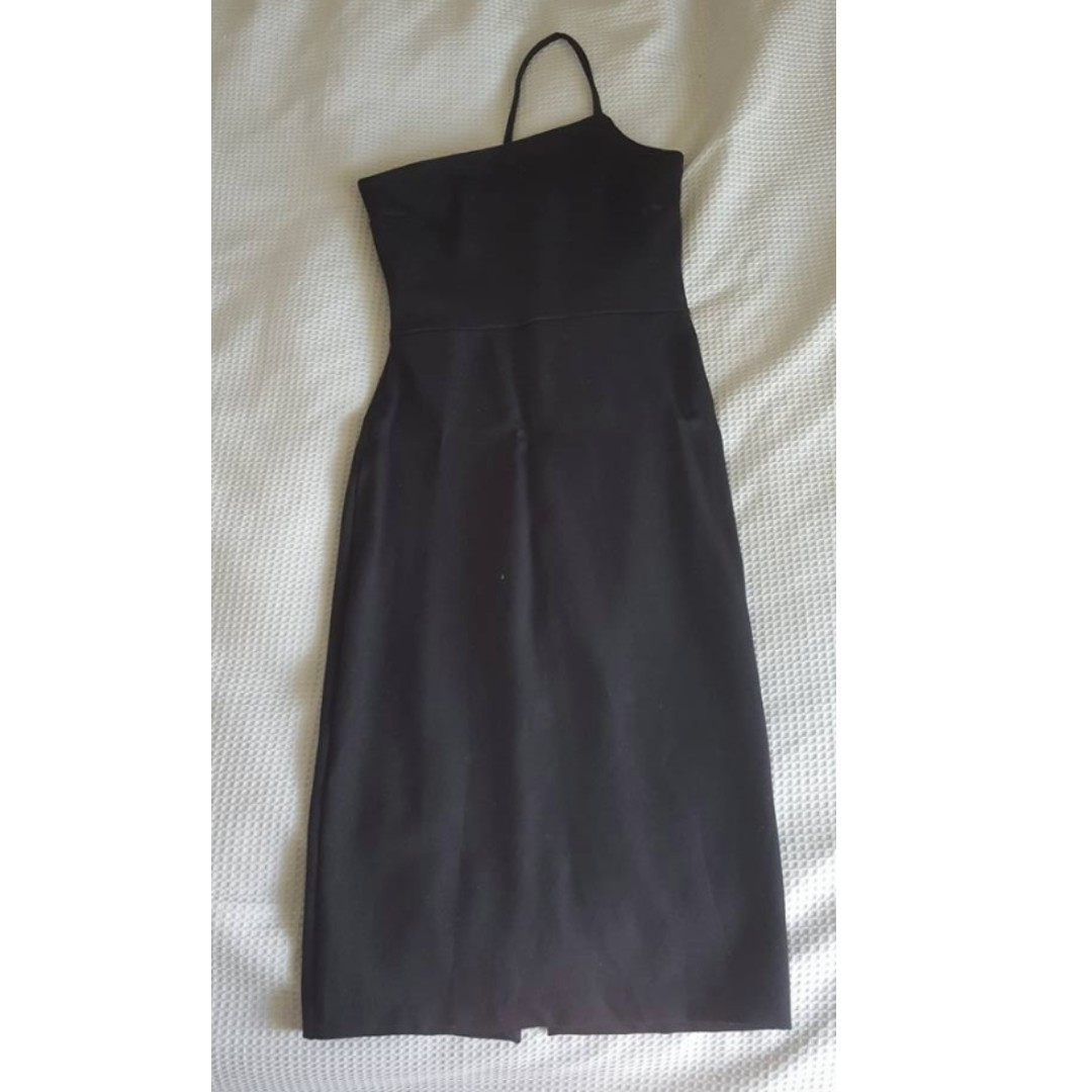 black midi dress one strap size 6 / 8