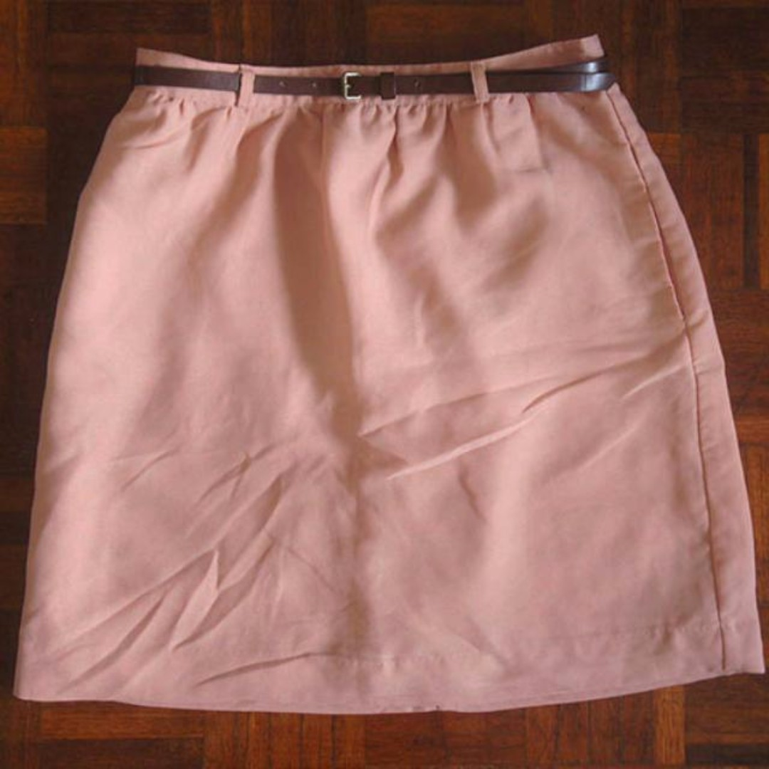 #Buy1Get1Free Forever 21 Peach Woven Skirt With Belt