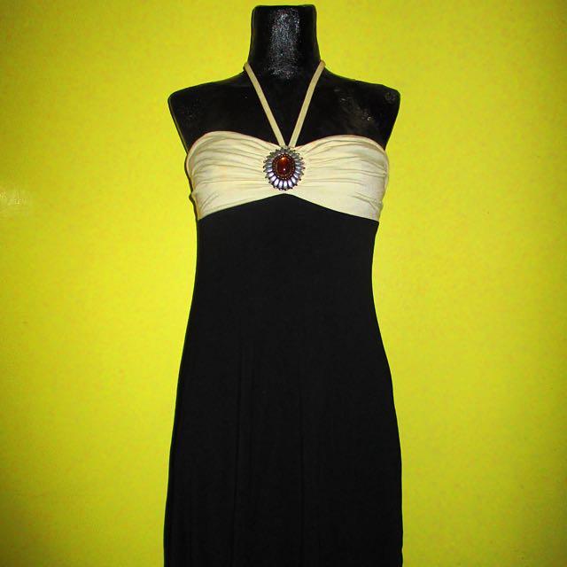 B&W Halter Dress