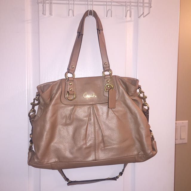 Coach Beige Tote Bag with Divider