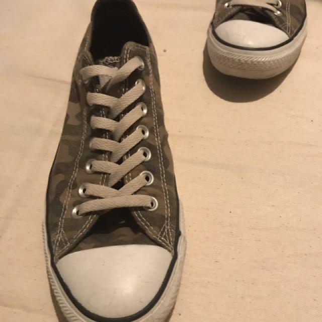 Converse迷彩帆布鞋