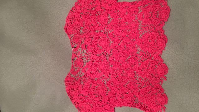 Crochet Pink Crop Top