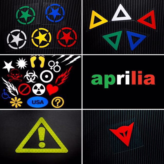 Custom Reflective Stickers- Bicycles