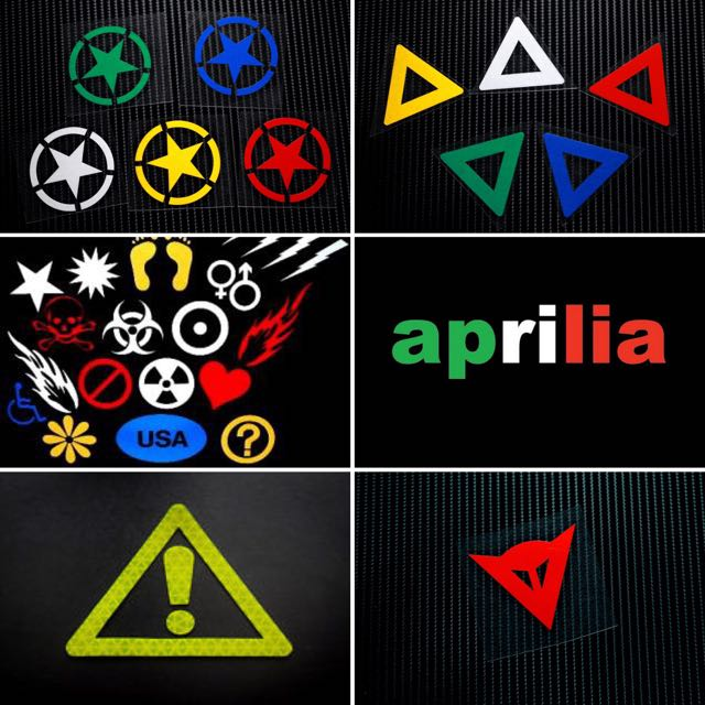 Custom Reflective Stickers - Motorcycles