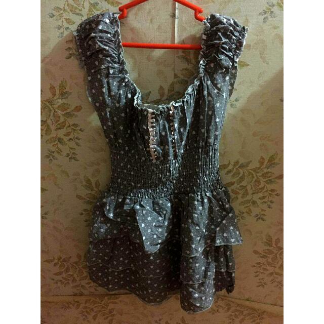 Cute Hearts Ruffles Dress