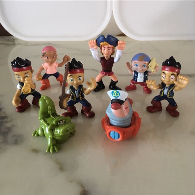 Pleasant Disney Jake And The Never Land Pirates Figurines Birthday Cake Funny Birthday Cards Online Elaedamsfinfo
