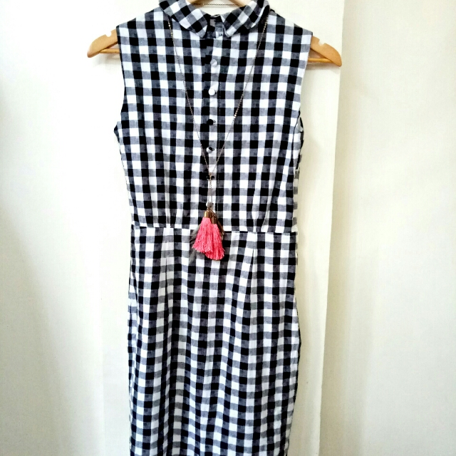 Dress bW Checkered