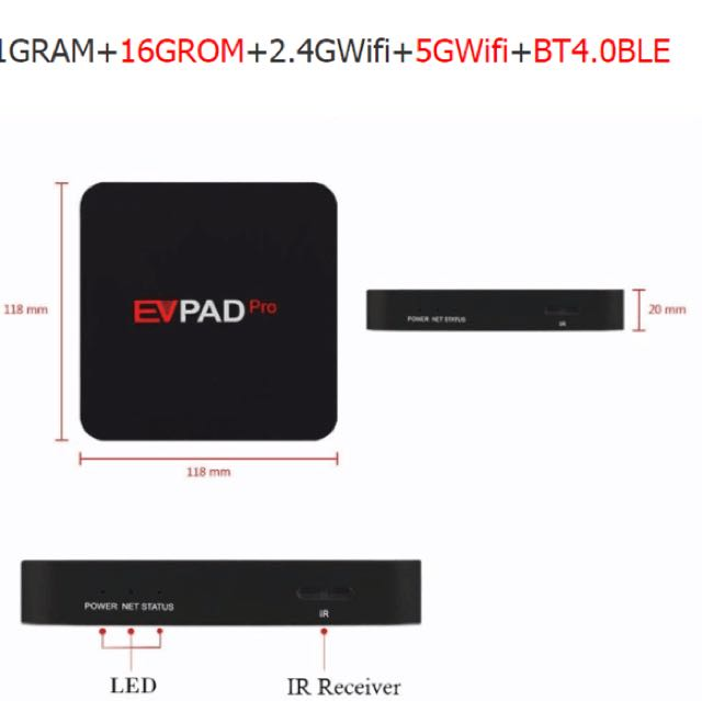 Evpad Tv Android Box International Online Channels, Home