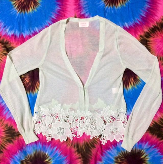 Floral Laced Cardigan-FREE SHIPPING on worth 500.00 purchase