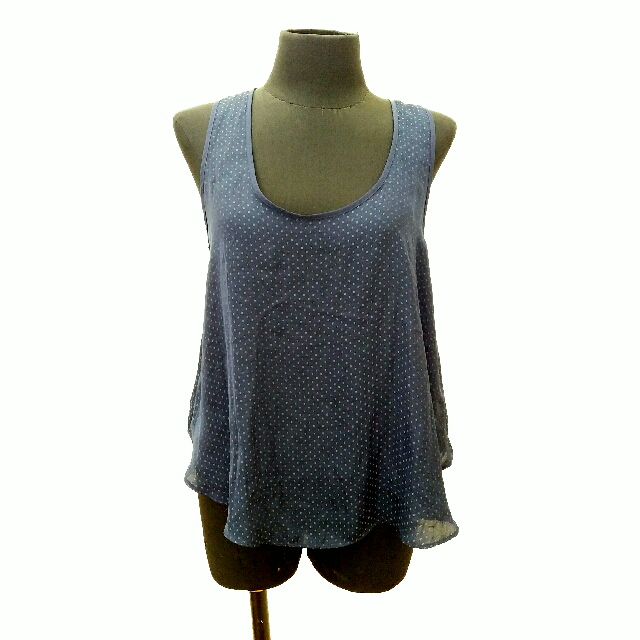 Forever 21 Blue Asymmetric Front Top