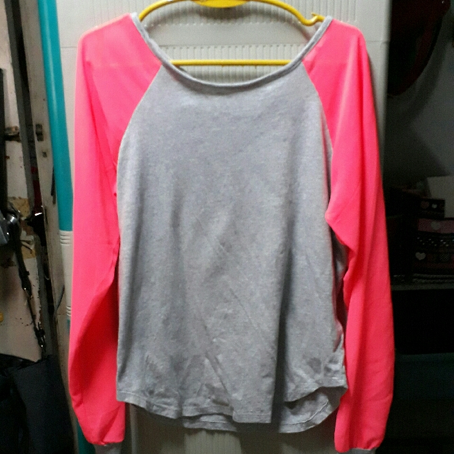 Forever 21 Neon Pink Long Sleeves
