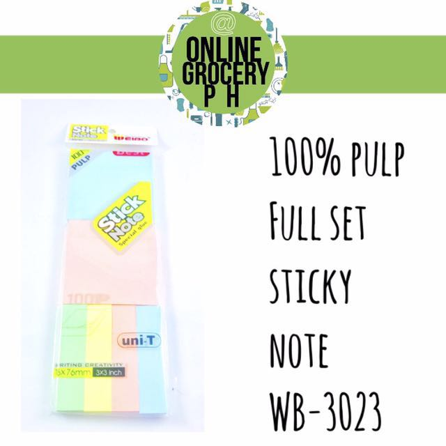 Full set sticky note big