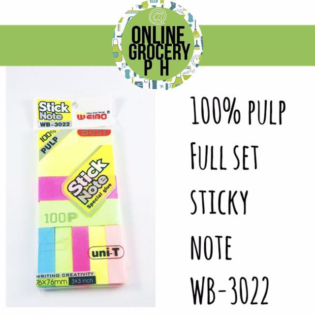 Full set sticky notes big