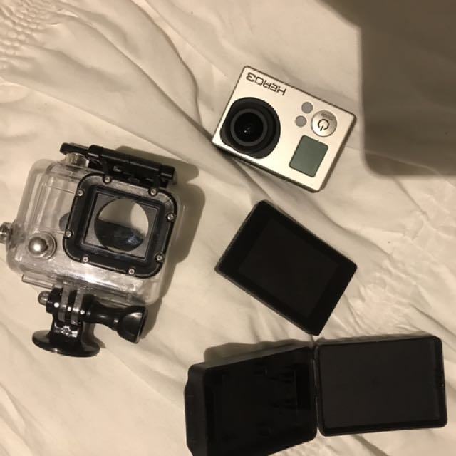 GO PRO HERO 3 with case and backpack