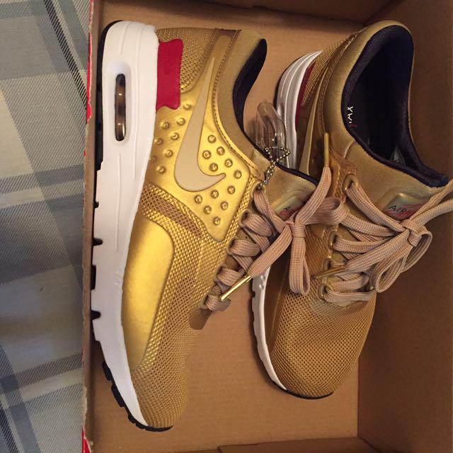 Gold Nike Air Max Zero QS