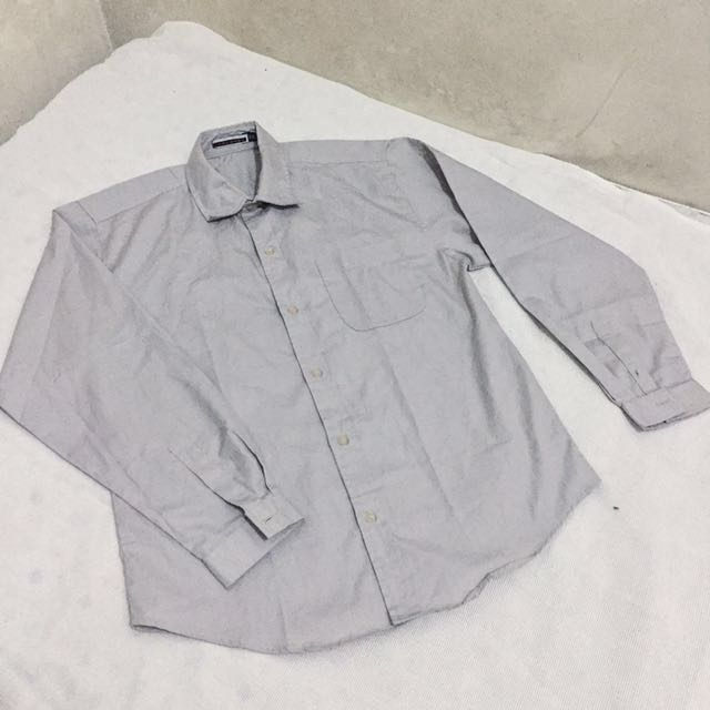 Gray Oversized Button Down