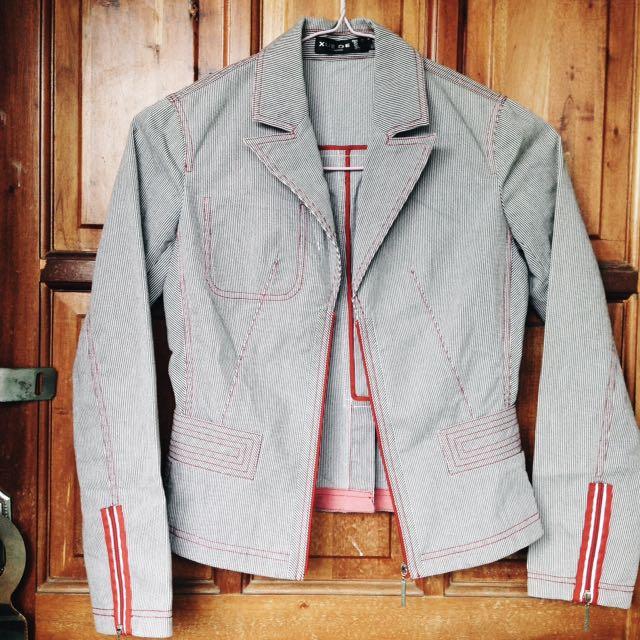 Gray Stripes Blazer