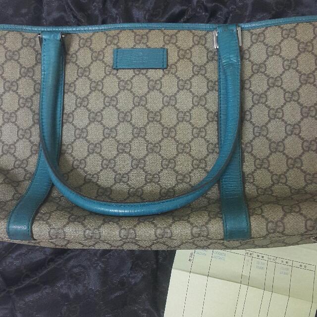 GUCCI  PVC 肩背包 手提包 購物包(有購買證明)