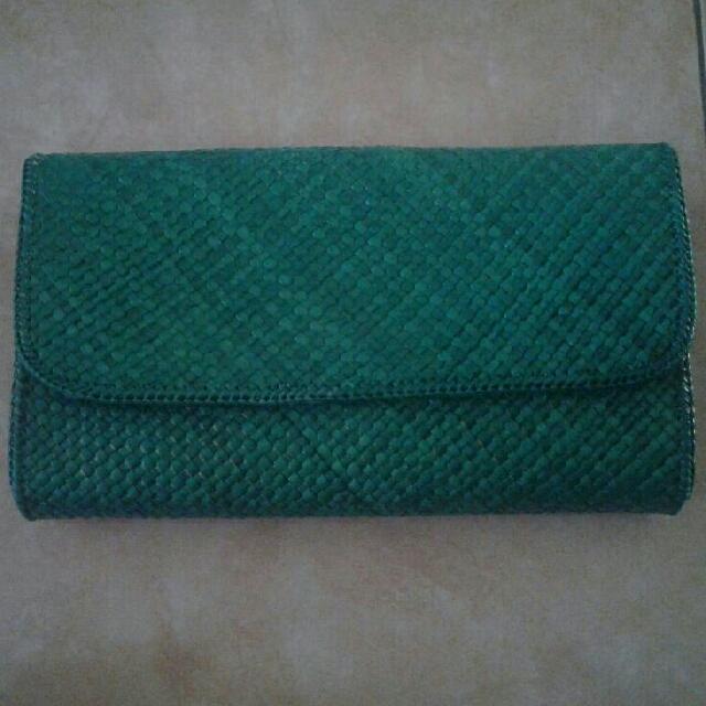 Handmade Clutch Green