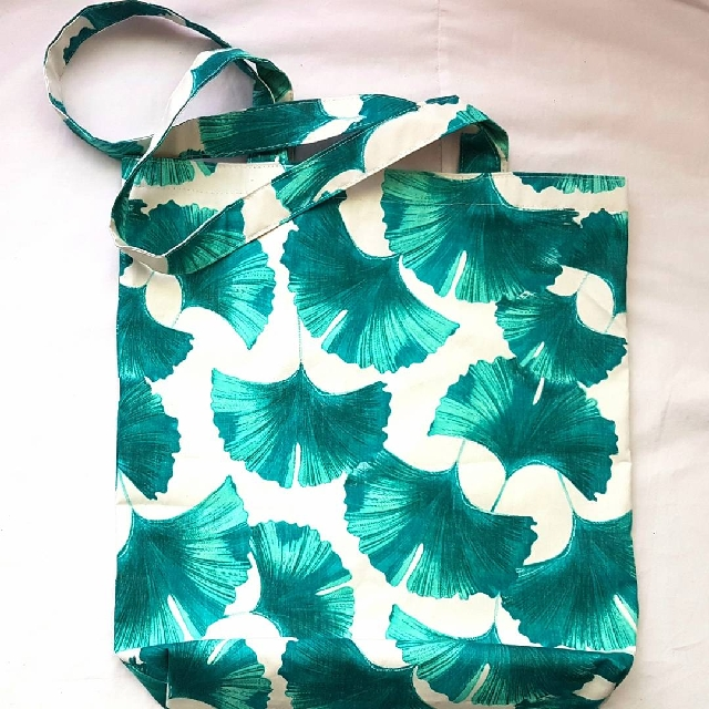 [HANDMADE] [NEW] Green White Tote Bag