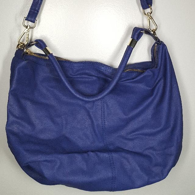 H&M Bluish Purple Hobo Bag