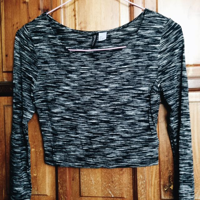 H&M Long-Sleeve Crop Top