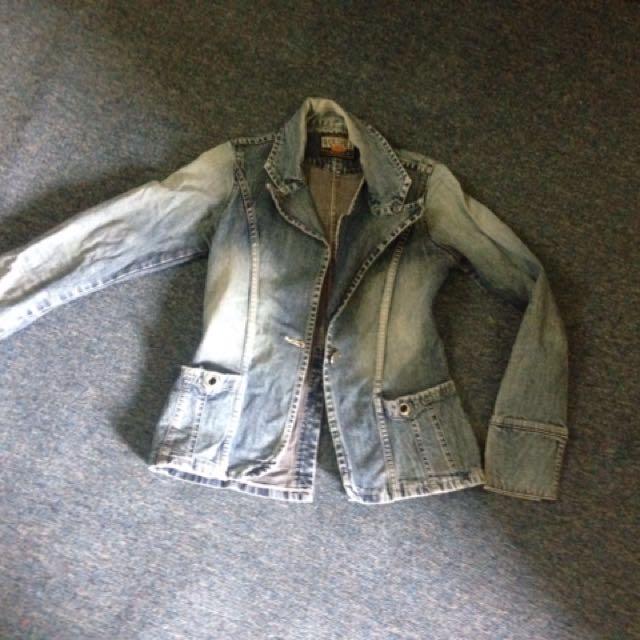 Jaket jeans plus inner mini dress size S