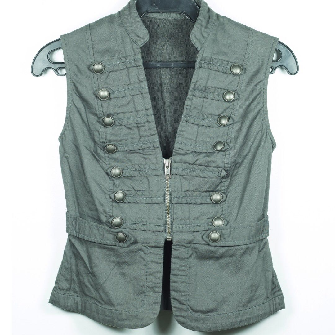 Just G Olive Green Army Vest