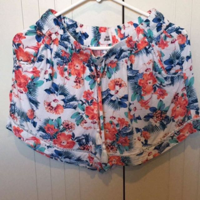 Just jeans floral bed shorts