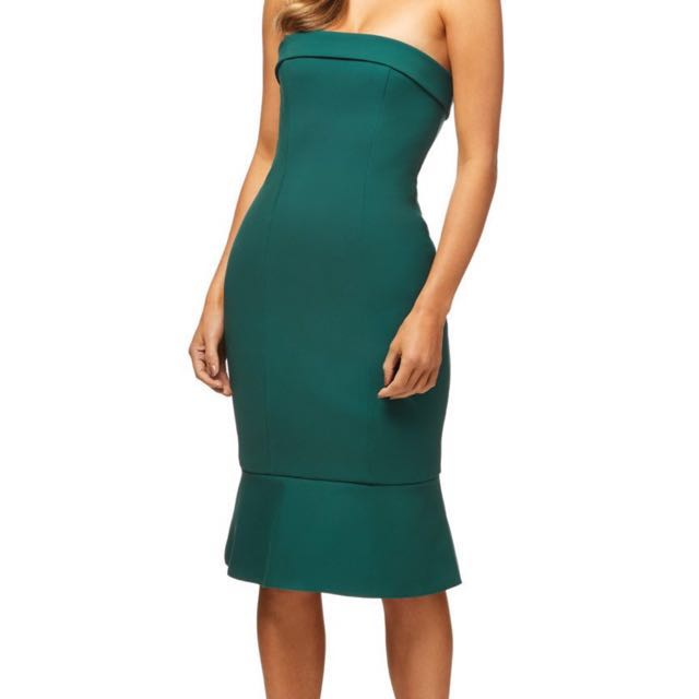 Kookai Green Strapless Dress Size 40