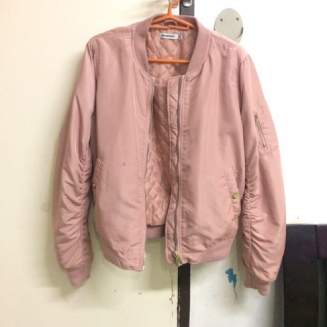 f046af15dd1 Light Pink Stradivarius Bomber Jacket