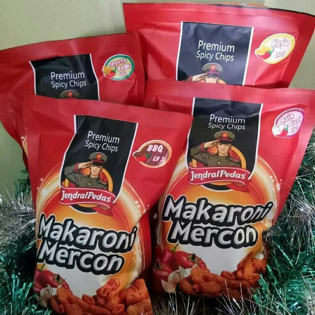 Premium Spicy Source · jendral pedas makaroni mercon & fusilli. Source ·