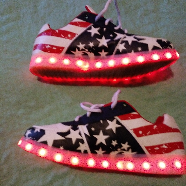 Men's usa Light Up Shoes With Charger