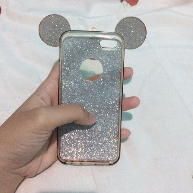 Mickey gliter iphone 5 case