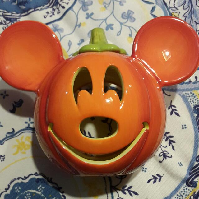 2PCS LEFT!!! Halloween Mickey Mouse Candle Holder with box