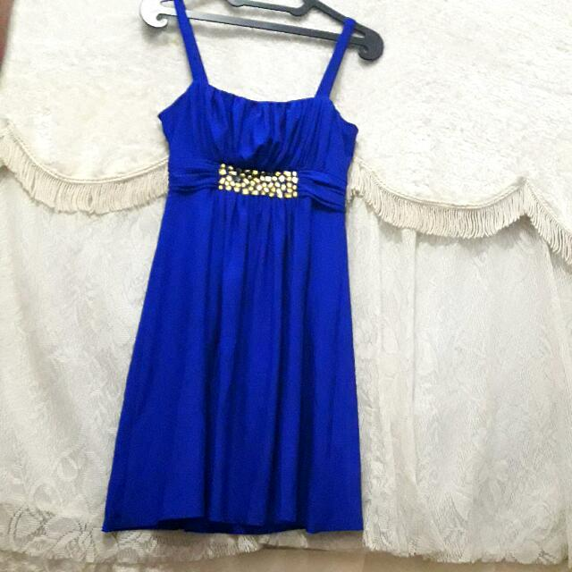 Mini Blue Dress Gaun