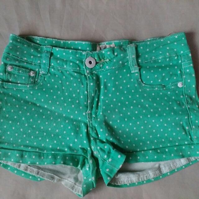 Mint Green Low-waist Shorts