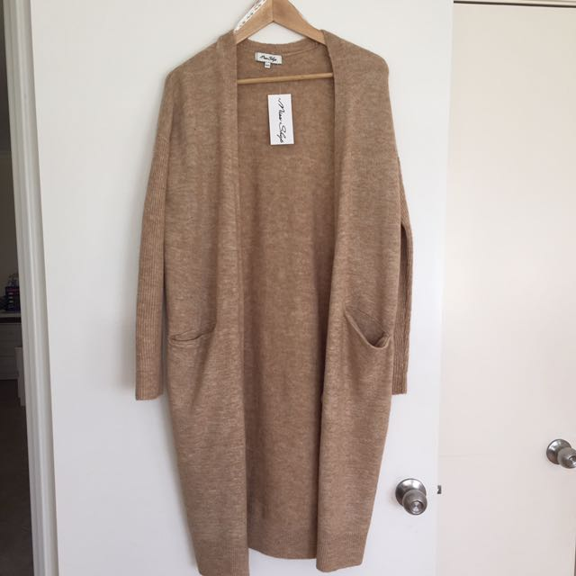 Miss shop Camel Mid length Cardigan XS/S