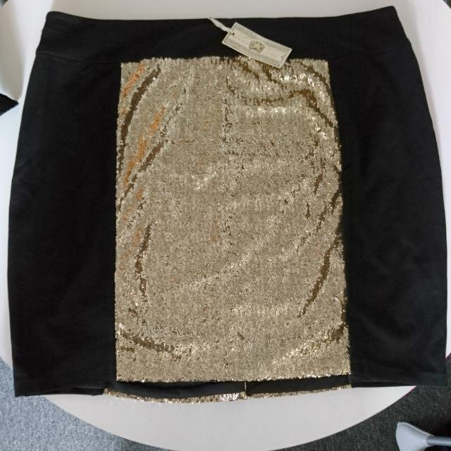 MYNT size 26 Gold And Black High waisted Skirt