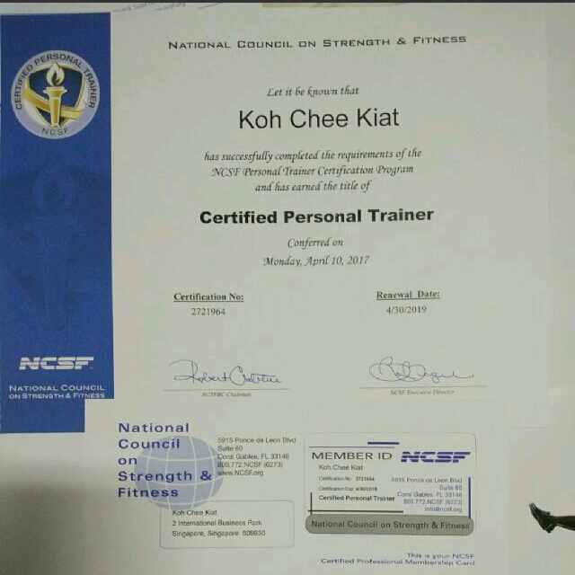 National Council On Strength And Fitness Personal Trainer ...