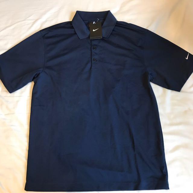 New With Tags Nike Navy Golf Polo Shirt Medium